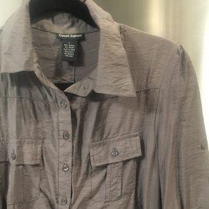 Cotton Express button back shirt